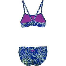 speedo Boom Allover Traje de Baño Dos Piezas Mujer, blue/green